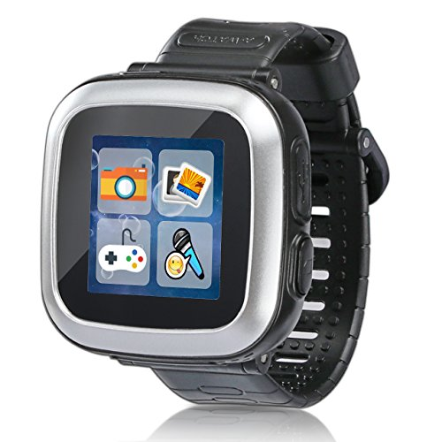 Game Smart Watch for Kids Children Boys Girls with Camera 1.5'' Touch 10 Games Pedometer Timer Alarm Clock Toy Wrist Watch Health Monitor (003Black)