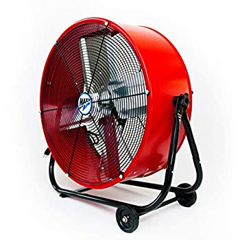 Image of Home and Kitchen Maxx Air | Industrial Grade Air Circulator for Garage, Shop, Patio, Barn Use | 24-Inch High Velocity Drum Fan, Two-Speed