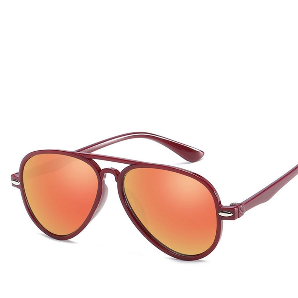 ANBOO Boys And Girls Retro Anti-UV Sunglasses Color Film Goggles New Cool Baby Boy Girls Glasses (Purple)