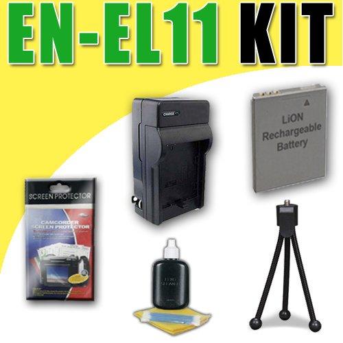 EN-EL11 Lithium Ion Replacement Battery//Charger for Nikon Coolpix S550 S560 /& Pentax Optio W60 M50 V20 Digital Cameras DavisMAX Bundle
