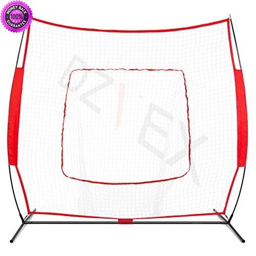 DzVeX 7x7ft Baseball Teeball Practice Hitting Net - Red And batting cage nets craigslist commercial batting cages for sale diy batting cage batting cage kits batting cage frame used batting cages by DzVeX