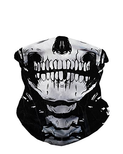 iHeartRaves Skeleton Squad X-Ray Skull Seamless Rave Mask Bandana