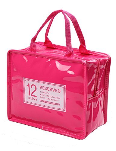 Thermal Insulated Waterproof Lunch Bag (Pink) - 8