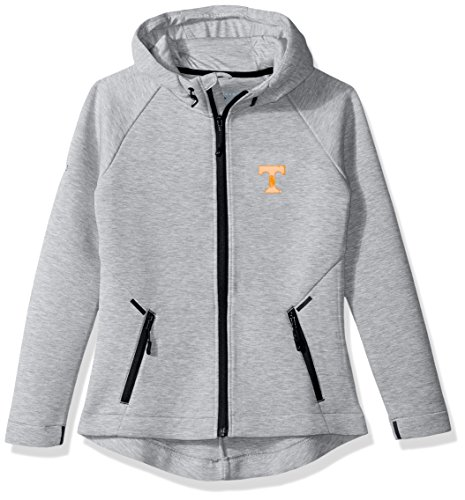 Levelwear LEY9R NCAA Tennessee Volunteers Adult Women Motion Insignia Full Zip Hooded Jacket, Large, Heather - Jacket Tennessee Volunteers