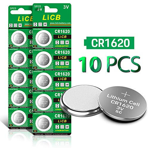 LiCB CR1620 3V Lithium Battery CR 1620 (10-Pack) (1620 Battery)