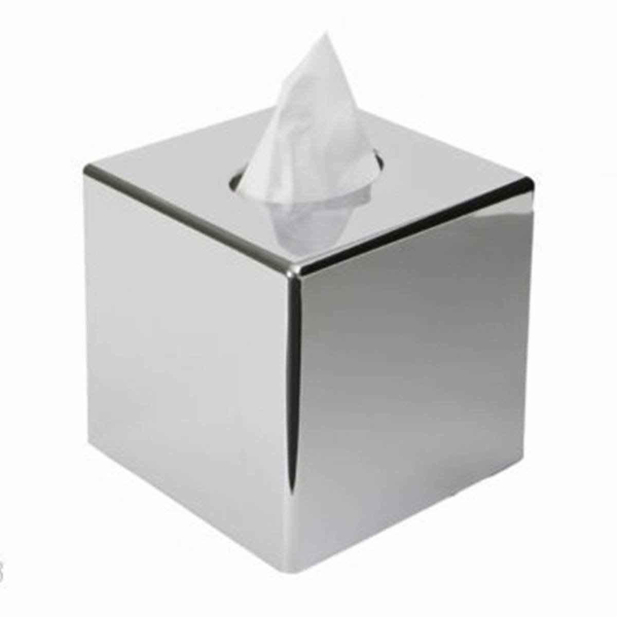 CONBEE Stainless Steel Cube Tissue Holder Box Corrosion Resistance Home Office Decor Silver Size 130 130 130mm B01HHMTZ6S