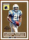 2005 Topps Turn Back the Clock #12 LaDainian Tomlinson SAN DIEGO CHARGERS Hall of Famer