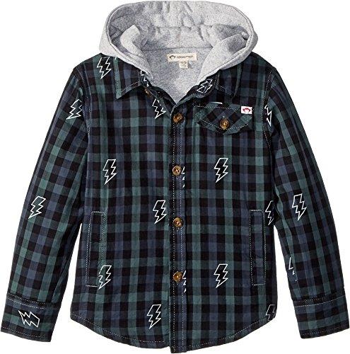 Appaman Kids Baby Boy's Glen Flannel Hooded Jacket (Toddler/Little Kids/Big Kids) Vineyard Shazam 5