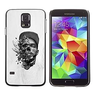 Caucho caso de Shell duro de la cubierta de accesorios de protección BY RAYDREAMMM - Samsung Galaxy S5 - Abstract Skull Explosion