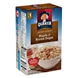 Instant Quaker Oats Maple and Brown Sugar Oatmeal, 430g