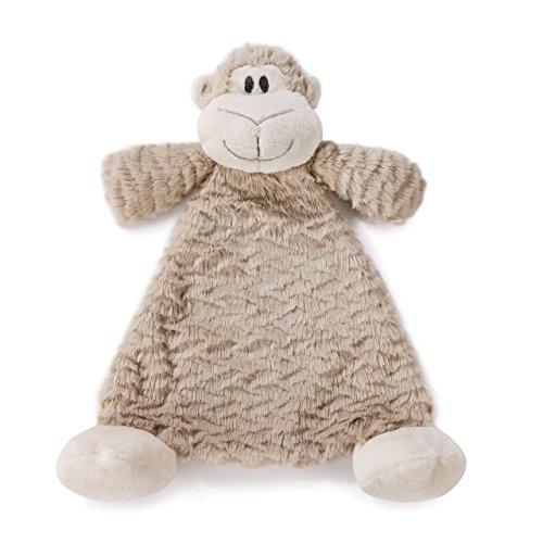Meekie Monkey Light Brown Children's Plush Rattle Blankie ()