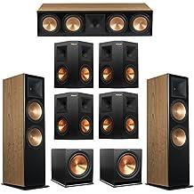 Klipsch 7.2 Cherry System with 2 RF-7 III Floorstanding Speakers, 1 RC-64 III Center Speaker, 4 Klipsch RP-250S Surround Speakers, 2 Klipsch R-115SW Subwoofers