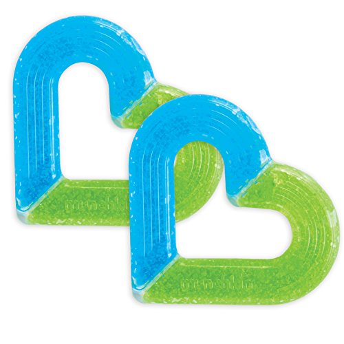 - Munchkin 2 Piece Ice Heart Soothing Teether, Blue/Green