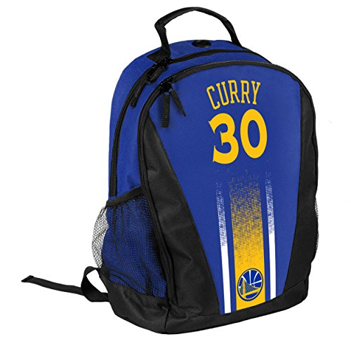 Golden State Warriors 2016 Stripe Prime Time Backpack School Gym Bag - Stephen Curry #30 by TBFC