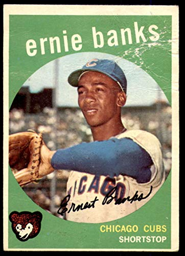 1959 Topps # 350 Ernie Banks Chicago Cubs (Baseball Card) Dean's Cards 1 - POOR Cubs