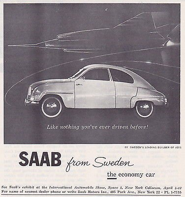 "1959 SAAB 93B SEDAN "" Like nothing you've ever driven for sale  Delivered anywhere in USA"