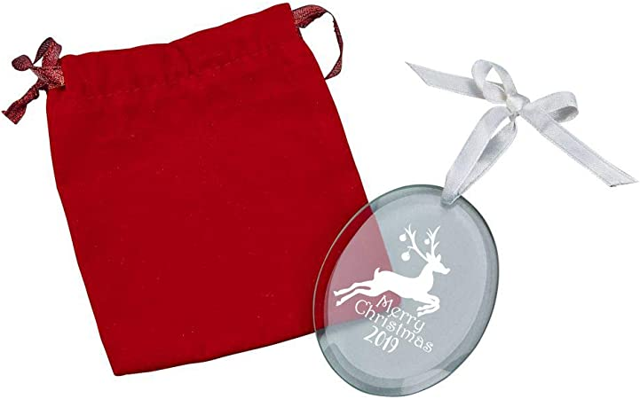 Engravable Blank Personalization Glass Ornament Christmas Gift Decorate Engrave