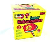 Super Rebanaditas Display with 20 Lollipops