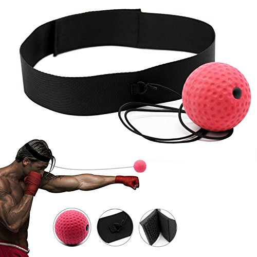 Belly Band Mine (PoiLee Boxing Reflex Ball for Punching Exercise Fight Ball with Head Band Great for Training to Improve Reactions and Speed, Boxing Equipment Super for Training and Fitness)