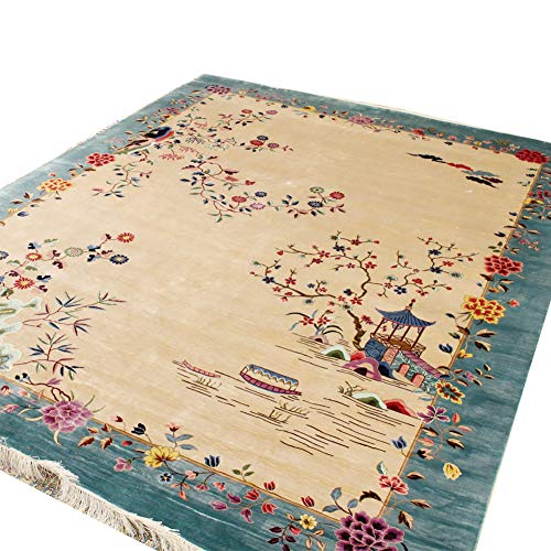 YILONG CARPET 8'x10′ Handmade Area Rug Oriental Chinese Silk Carpet for Home
