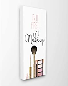 Stupell Industries Makeup Fashion Designer Modern Pink Word Canvas Wall Art, 10 x 24, Multi-Color