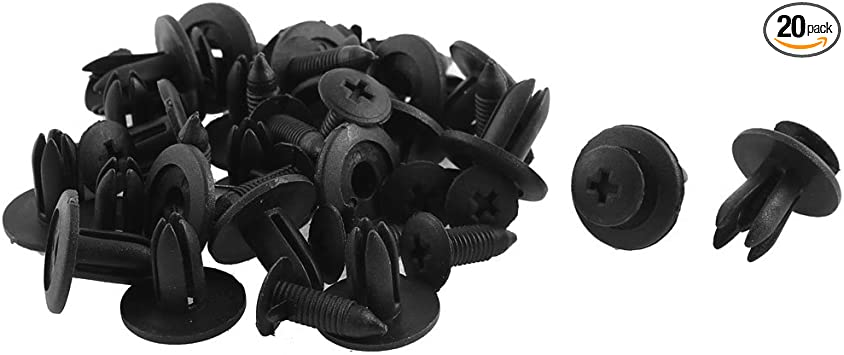 uxcell 6mm X 15mm Plastic Rivets Car Push Clips 20 Pcs