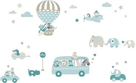 Lovely Label Wandsticker Selbstklebend Tiere On Tour Taupe Mint Petrol Wandaufkleber Kinderzimmer Babyzimmer Mit Tieren Wandtattoo Schlafzimmer Madchen Junge Wanddeko Baby Kinder Amazon De Kuche Haushalt