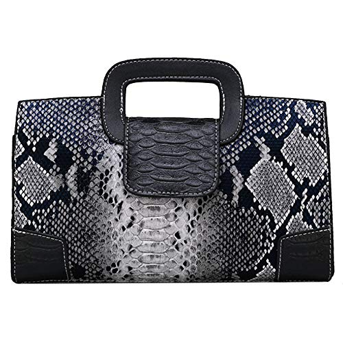 Buddy Top Handle Satchel Women Vintage Flap Tote Clutch Snakeskin Handbag Crossbody Shoulder Bag Purse