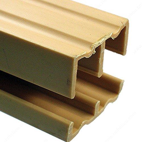 Plastic Track for 1/2 Sliding Doors, Length 4 ft
