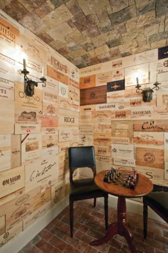 VINE RE DESIGN 40 Wine Crate Panels Assorted Branded Sides, Ends, Tops Wood