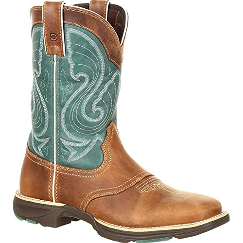(Durango Women's Ultralite Emerald Saddle Western Boot, Tan, 7.5 M)