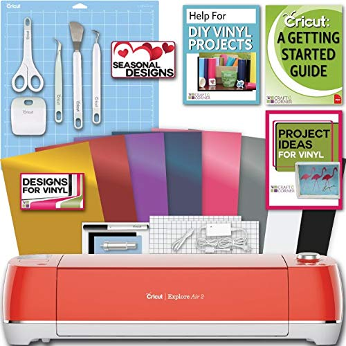 - Cricut Explore Air 2 Machine Bundle Beginner Guide, Tool Kit, Vinyl Pack, Designs and Project Inspiration