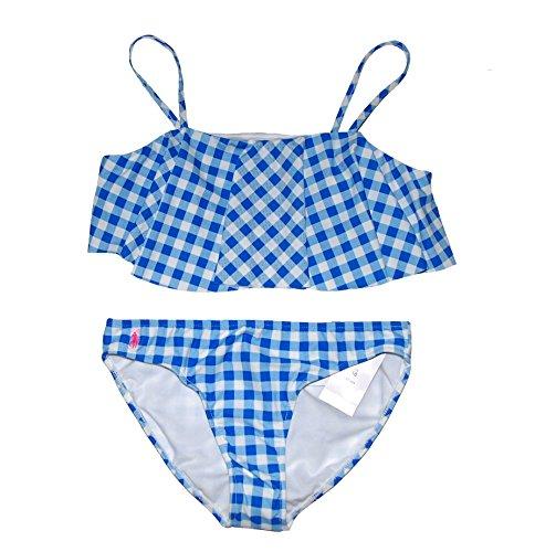Ralph Lauren Girls Gingham 2 Piece Bikini Set Swimsuit (Gingham Sunsuit)