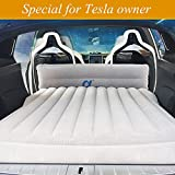 Topfit Car Camping Air Bed Car Travel Inflatable Mattress Vehicle Mount SUV Seat competible Model S and Model X 5 Seater and Model 3