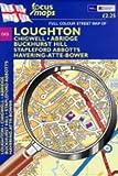Full Colour Street Map of Loughton: Chigwell,Abridge,Buckhurst Hill. Stapleford Abbotts,Havering-Atte-bower