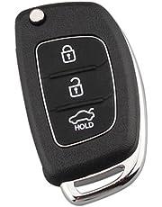 Prettyia 3Buttons Key Fob Shell Case Flip Remote for Hyundai ix35 ix45 Series Santa Fe