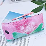 Coohole-Stationery Cute Girl Student Pencil Pen Case Cosmetic Bag Canvas Travel Makeup Bag Case HOT