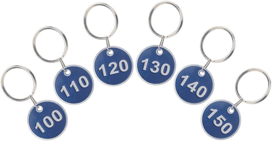 Aspire Conjunto de etiquetas clave Llavero de la etiqueta del número del borde del metal 1a200 200 piezas Blue