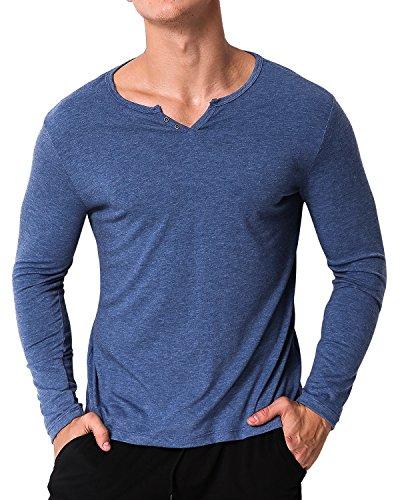 V-Neck Button Shirt - 5