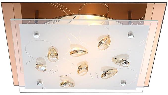Plafoniera Quadrata Vetro Satinato : Plafoniera vetro satinato sabbiato