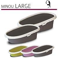 MP Bergamo Cat Litter Box Minou, Multi-Colour, Large (58 x 39 x 17 cm)