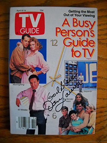 This is a Dan Lauria Signed TV Guide with The Wonder Years on the cover Dated April 8,1989 from an article on a A Busy Person's guide To TV. This TV Guide was Signed by Dan Lauria