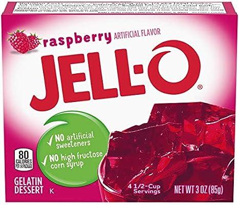 Jell-O - Mezcla de gelatina Caja de 3 onzas (paquete de 6) Raspberry: Amazon.es: Alimentación y bebidas