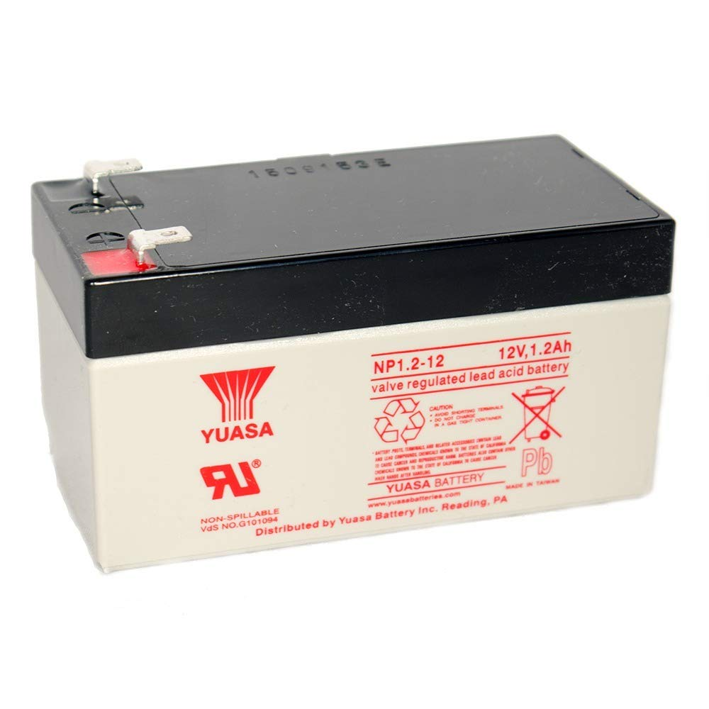 Yuasa NP1.2-12 SEALED LEAD ACID BATTERY 12VOLT 1.2AH