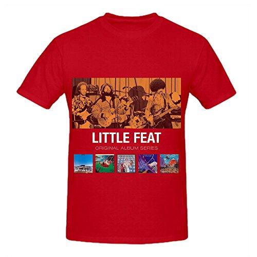 Little Feat Original Album Series Tracks Men Crew Neck Custom T Shirts Red