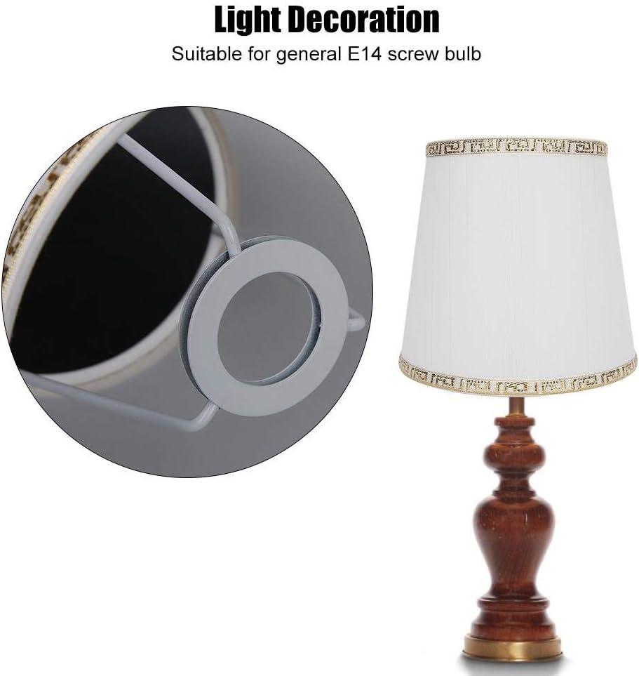 E14 Lampadina a Spirale Lampada da Tavolo Moderna Paralume in Tessuto Accessori Decorazioni per la casa Tipo di Filo Dorato Beige Paralume