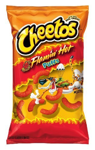 (Flamin' Hot Puffs Cheese Flavored Snacks (Flamin' Hot, 8.5 oz) by Cheetos)
