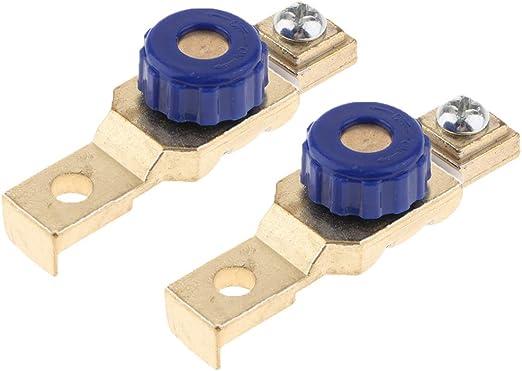 Interruptor de bater/ía motocicleta Bater/ía Apagado Interruptor Enlace Terminal Desconexi/ón r/ápida Desconectador Maestro aislador