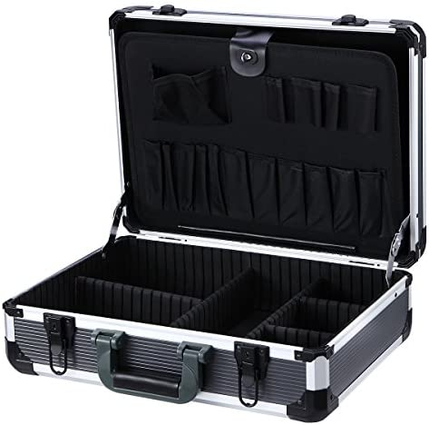 Aluminum Hard Tool Case Can Storage All Your Tools in One Toolbox, 17.7 Length,13 Width, 5.9 Height450K Tool Packets