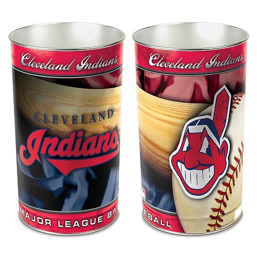 WinCraft MLB Cleveland Indians Wastebasket Tapered, 15'' H